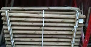 1 8m 6ft X 100mm Dia Treated Half Round Wooden Timber Fence Rails Ebay
