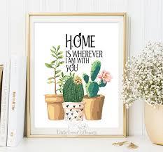 home is wherever print entrance wall art welcome print decor art