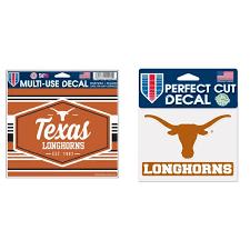 Texas Longhorns Official Ncaa Automotive Car Decal 4 5x6 And Die Cut Car Decal Bundle 2 Items Walmart Com Walmart Com