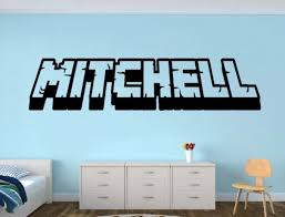 Amazon Com Personalized Gamer Name Decal 3d Looking Gamer Room Wall Vinyl Decal Sticker Handmade