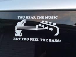 Bass Player Decal Bass Player Sticker Bass Guitar Decal Etsy