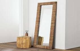 unique wood table cheval mirror