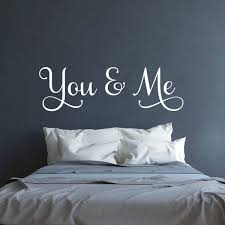 You And Me Wall Decal Above The Bed Wall Art Wedding Gift Mr And Mrs Sign Master Bedroom Decor Love Wall Decal Couples Decal Wish