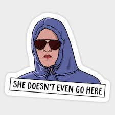 Funny Mean Girls Quote She Doesn T Go Here Vinyl Decal Decor Laptop Sticker Ebay