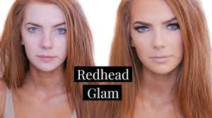 makeup for redheads tutorial green