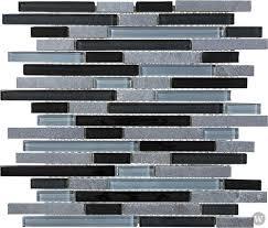 bliss glass tile blend linear mosaic