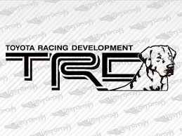 Toyota Trd Logo Decal Stickers
