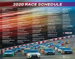 NASCAR Schedule Poster