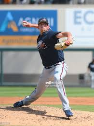 Aaron Blair of the Atlanta Braves pitches during the Spring ...