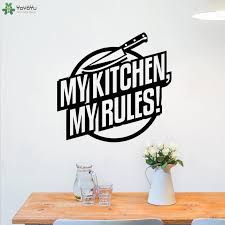 Wall Decal Creative Quotes My Kitchen My Rules Wall Stickers Decoration Home Interior Art Wallpaper Window Decor Diy Stickers For Decorating Walls Stickers For Home From Onlinegame 11 85 Dhgate Com