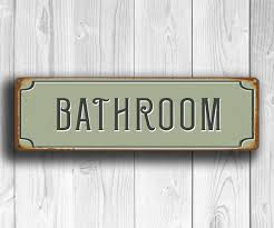 bathroom sign bathroom decor