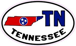 5inx3in Oval Tn Tennessee Sticker Vinyl Car Bumper Decal Luggage Stickers Stickertalk