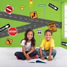 Street Road Sign Wall Decals Murals