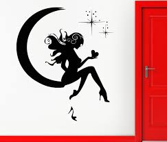 Wall Sticker Vinyl Decal Girl Fairy Moon Star Dreams Teen Decor Removable Vinyl Wall Stickers For Kids Room Vinilos Parede Wall Stickers Aliexpress