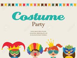 Invitacion Para La Fiesta De Disfraces Ninos Vistiendo Trajes