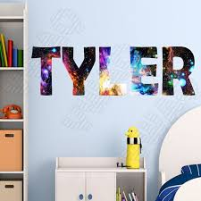 Custom Name Decal Outer Space Galaxy Wall Art Decor Etsy In 2020 Kid Room Decor Name Wall Stickers Personalized Wall Decals