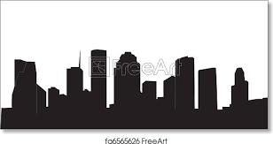 Free Art Print Of Houston Skyline Freeart Fa6565626