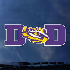 Lsu Dad Decal Tiger People Clothiers