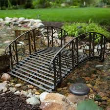 metal garden bridge 4 foot steel