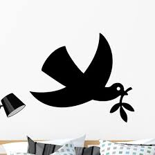 Dove Flight With Olive Wall Decal Wallmonkeys Com