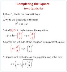 solving quadratic equations by