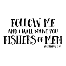 Matthew 4v19 Vinyl Wall Decal Follow Me And I Will Make You Fishers
