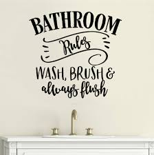 Winston Porter Bathroom Rules Letters Words Home Wall Decals Wayfair