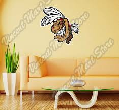 Indian Chief Head Apache Cherokee Wall Sticker Room Interior Decor 22 X22 For Sale Online