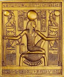 king tut egyptian wall plaque sculpture