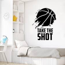 Take The Shot Basketball Wall Decal Labeldaddy