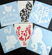 20 Off Sale Pre Made Indoor Outdoor Vinyl Decals Only 1 Of Each Hogwarts Banner Lion King Cat Chicken Pua Hei Hei For Hom Vinyl Decals Vinyl Lion King