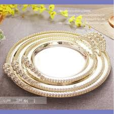 round silver plated serving tray