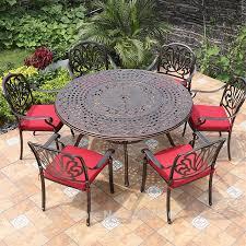 cast aluminum patio dining set outdoor