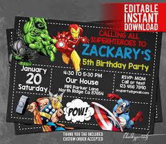 Avengers Invitation Instant The Best Avengers Birthday Invitati Cumpleanos De Los Vengadores Fiestas De Cumpleanos De Los Vengadores Invitaciones De Cumpleanos
