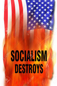 Socialism On Fire Destroys Everthing. Stock Photo, Picture And ...