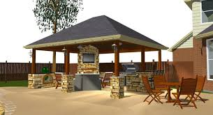 backyard patio roof ideas cover cement