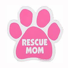 Paw Car Window Decal Rescue Mom Baxterboo