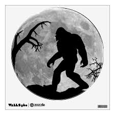 Sasquatch Silhouette And Moon Background Wall Sticker Zazzle Com