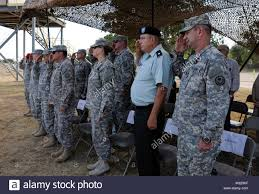 Capt. Wesley West (right), Texas Army National Guard, at his Stock Photo -  Alamy