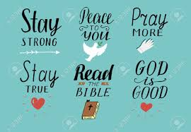 set of hand lettering christian quotes royalty cliparts