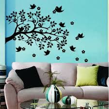 Shop Wall Decal Tree Branch With Bird Flowers Wall Decals For Kids Playroom Nursery Decor Overstock 11179816