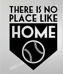 Amazon Com Baseball There Is No Place Like Home Vinyl Wall Decal 13 X 17 Kids Room Sports Home Kitchen