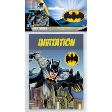 Batman Invitaciones 8ct Simaro Co