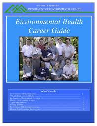 environmental health career guide
