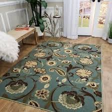 ocean blue fl non slip area rug