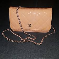 wallet on a chain woc patent leather