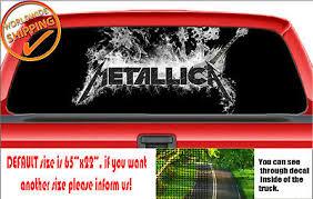W899 Metallica Logo Emblem Wrap Truck Perforated Car Decal Rear Window Sticker Ebay