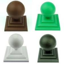Plastic Ball Finial Fence Post Caps For 4 Or 100mm Square Wooden Fence Posts Ebay