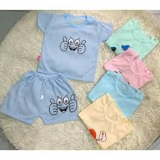 Giá hủy diệt- Combo 5 quần áo trẻ em sơ sinh / bộ đồ coton cho bé sơ sinh,  Giá tháng 11/2020
