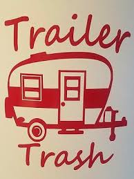 Trailer Trash Camper Decal For Mug Or Insulated Cup 20 Color Options